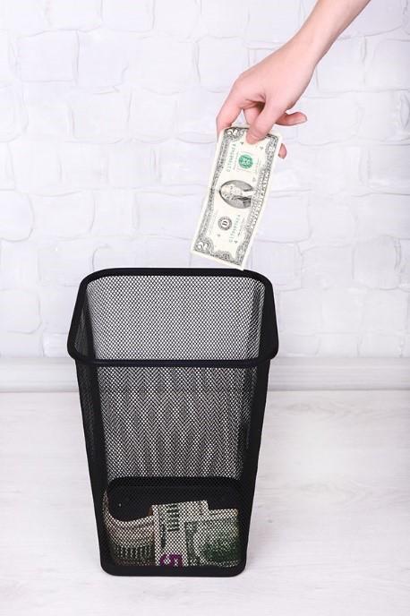 ETC Cash in Bin