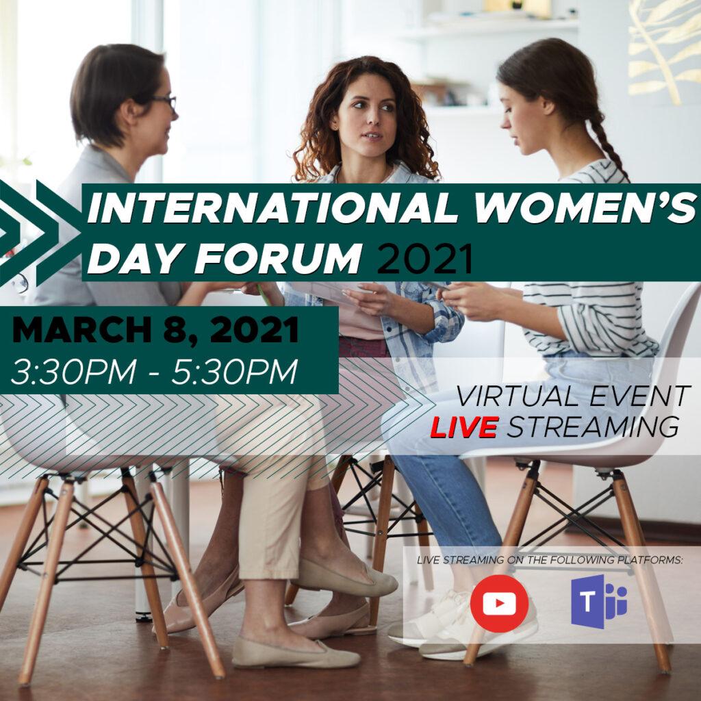 Gemini to sponsor International Woman's Day Forum 2021 - Banner