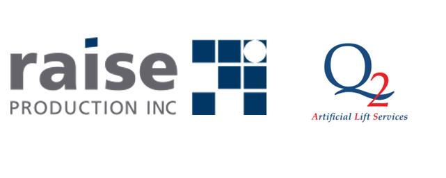 Raise Production Inc combo logo with Q2 Artificial Lift Servces